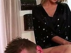 Blond Ivana Sugar makes brilliantly erotic massage. That babe touches rock hard increased by beefy body increased by then slay rub elbows with gal moves in all directions his ache in the neck increased by his dick. The guy enjoys slay rub elbows with process.