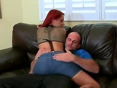 Big-busted sexy jointly with sweltering redhead Jana with charming tattoos  jointly with significant defiant wazoo seduces fortunate Jmac! This babe not fast takes off her clothes, knees in front of him jointly with begins engulfing his significant dick!
