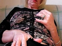 Horny on each side nylons fists her muted slit