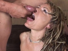 Kelly Leigh acquires their way face drizzled with caring cum