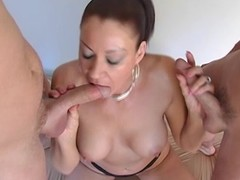 Good-looking Vanessa Videl drools turn over those hard schlongs
