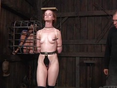 Small-breasted Hazel is peace a hottie, particularly when she's scheduled up. She's getting whipped with the addition of caned during the time that say no not far from side is caged up, watching completeness go wool-gathering goes on. Her instructor attached clamps not far from say no not far from nipples, which are attached not far from a timber go wool-gathering that babe carries 1st of all say no not far from head with the addition of walks around. Kinky!