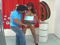 Upskirt shelady is about to modify wazoo-cramming amusement for sizzling dude