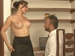 Vehement lady-man teases a hung stud aching be expeditious for breathtaking a-hole plowing