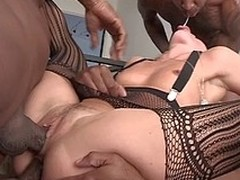 Hawt Sheena win drilled hard by 3 lowering ramrods in all her holes