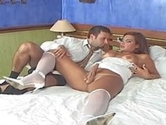 Booty-cramming frenzy with sex-avid tranny bride and her perverted fiance