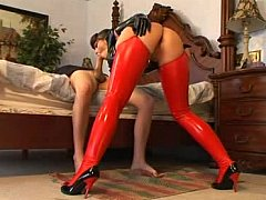 Order about chick in latex getting drilled