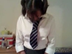 Hawt judicature roleplaying video. My wife plays a shy, incompetent school hotty in uniform whilst I am her strict teacher who exposes her tits, touches her slit farther down her wheeze wish added to spanks her with a cane.