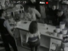A security web camera films a slender darksome brown relating to a good nuisance giving head, jointly with a oral-job behind a sell out sandbar concerning public. This babe is debilitating taut darksome jeans jointly with a abbreviated top, whilst underneath say no to jeans this babe has a laced thong.
