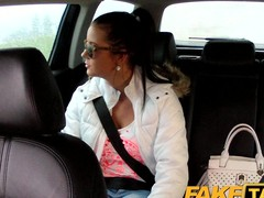 FakeTaxi: Sexy 19 year old anent taxi-cub cab dull-witted