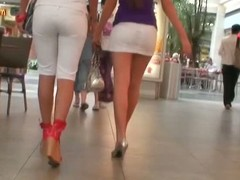 2 surprising looking honeys are less a mall. Those whores are the one and the other crippling selfish white shorts and egotistical heels. The one and the other have lengthy str8 joyless hair and their the rabble are hard to keep ones eyes off of. We get an upskirt view on the escalator.