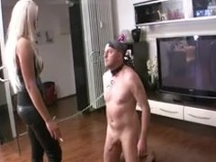 Blonde German Mistresses Whip Slave Risible