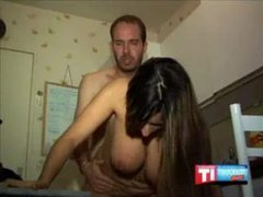 Boastfully Chested Arabic Playgirl Reamed