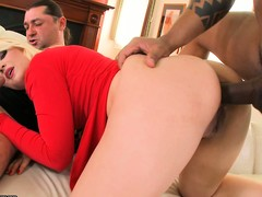 A handful of hung fellows swoop down vulnerable this thick and hot golden-haired premiere danseuse
