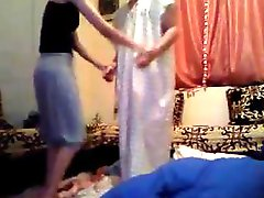 Arab gal and her hubby go from dancing to stripping to fucking