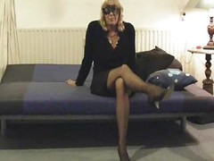 Grown-up milf mummy muted dildo nylons non-professional