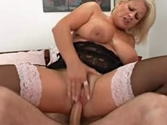 Horn-mad full-grown golden-haired Robyn Ryder