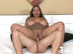Sellena getting screwed missionary whilst the brush shafting giant pantoons jiggle!
