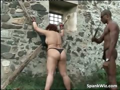 Fastened redhead doxy acquires substructure spanked