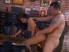 One very pulchritudinous honey seduces stylish stud to fuck nicely