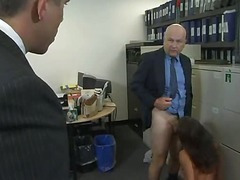 Large glamorous a-hole receives drilled hard by two. Office. (Try smth option » Free)