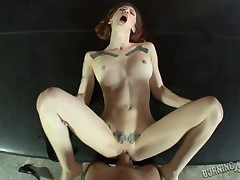 Lubricous Indigo Augustine receives vagina poundd in excellent POV video
