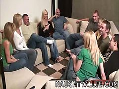 PARTY GAME LEADS TO A Biggest Fuckfest SWINGER WIVES