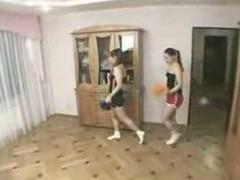 Twin cheerleaders