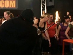 Wild fuck allover a catch night club everybody having natty soaked group sex