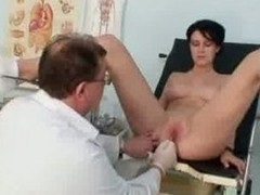 Breasty hottie Rita perverse gyno doctor exam