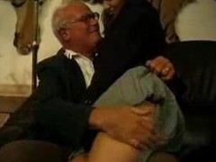 Grand Daddy and Father Chastise their Bad Schoolgirl