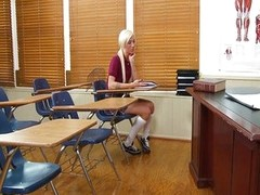 Blond schoolgirl receives a worthwhile lesson