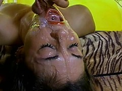 Cute sweetheart acquires her orientation overspread apropos cum after some amoral banging