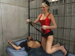 Kirmess honey Audrey Leigh punishes and copulates Ricosf connected with a jail