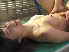 Sexy Japanese wench acquires screwed on hammer away desk