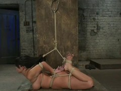 Sexy Kayme Kai acquires hog fastened and toyed by the brush dom
