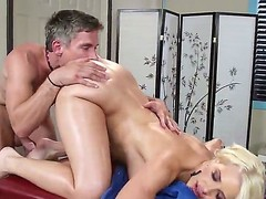 Anikka Albrite comes be advantageous to a massage but Mick Morose has some different chattels beyond his messy old mind