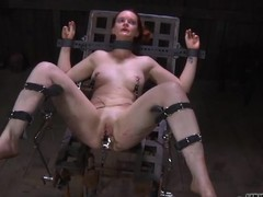 Enticing sweetheart's enjoyable teats acquires painful torturing