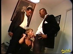 Abby likes with reference to win fucked by two extended Negro dicks