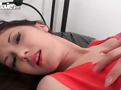 German inferior gets a unending orgasm in latex