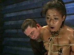 Hot Skin Diamond gets suspended above a sybian