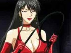 Anime dominatrix-bitch fucking the brush slave
